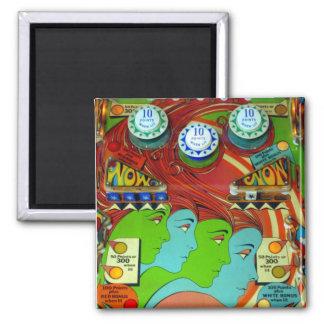 Pinball Wizard II Square Magnet