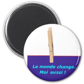 PINCE A LINGE MONDE CHANGE 1 PNG AIMANT POUR RÉFRIGÉRATEUR