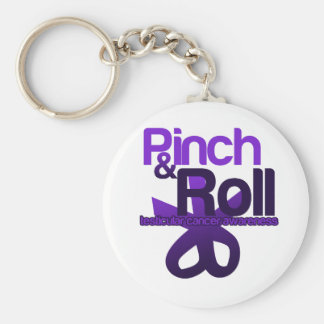 Pinch and Roll for Testicular Cancer Awareness Basic Round Button Key Ring