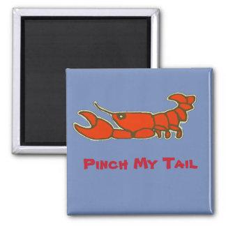 Pinch My Tail, Comical Crawfish Magnet