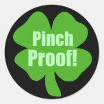 Pinch Proof! Round Sticker
