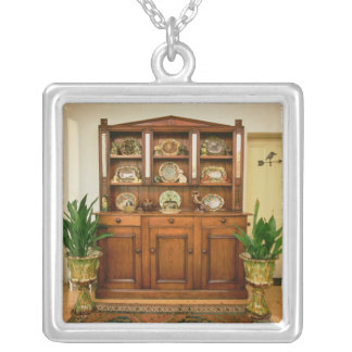 Pine and cedar dresser silver plated necklace