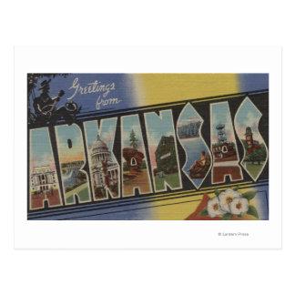 Pine Bluff, Arkansas - Large Letter Scenes Postcard