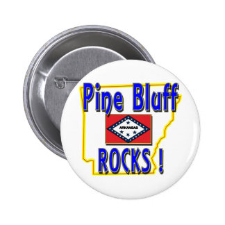 Pine Bluff Rocks ! (blue) 6 Cm Round Badge