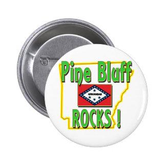 Pine Bluff Rocks ! (green) 6 Cm Round Badge