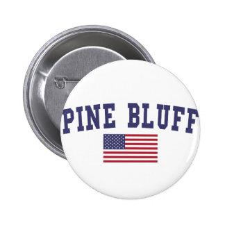 Pine Bluff US Flag 6 Cm Round Badge