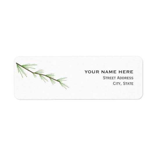 Pine Bough Wedding Address Label