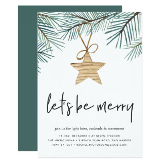 Pine Boughs | Holiday Party Invitation