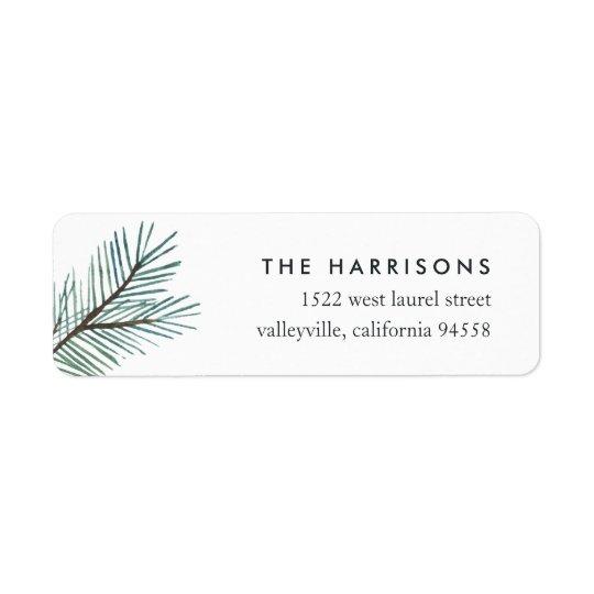 Pine Boughs | Holiday Return Address Return Address Label