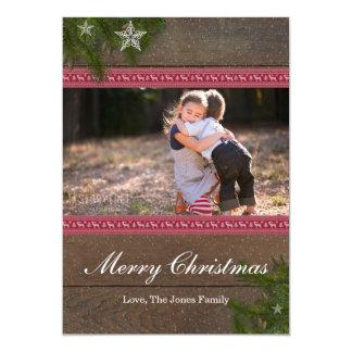 Pine Branch Star Merry Christmas Card 13 Cm X 18 Cm Invitation Card