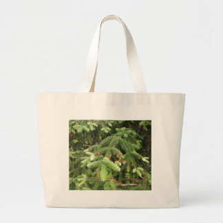Pine Branches Canvas Bags