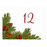 Pine Branches Christmas Party Table Card