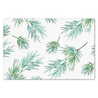 'Pine Branches' Silk Pattern Tissue Paper