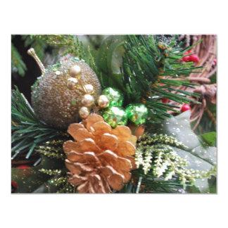 pine cone 11 cm x 14 cm invitation card
