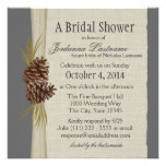 Pine cone and Burlap Look Bridal Shower