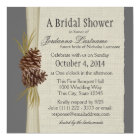 Pine cone and Burlap Look Bridal Shower Card