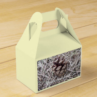 Pine Cone And Pine Needles Wedding Favour Boxes