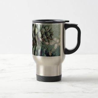 Pine cone Bokeh Christmas Lights Travel Mug