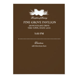 Pine Cone Brown Information Card 14 Cm X 19 Cm Invitation Card