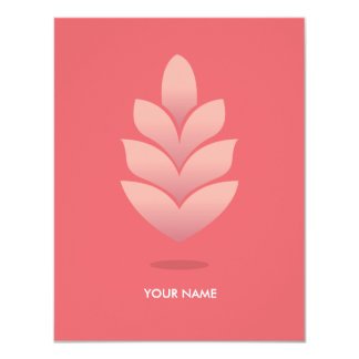 PINE CONE COMPLIMENT CARD PASTEL STRAWBERRY PERSONALIZED ANNOUNCEMENT