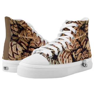 PINE CONE HIGH TOPS PRINTED SHOES