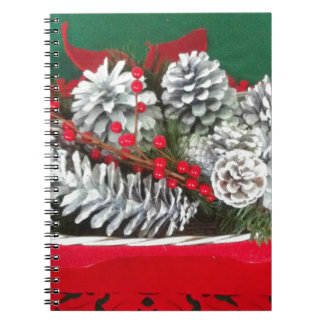 Pine Cone Holly Decoration Notebook