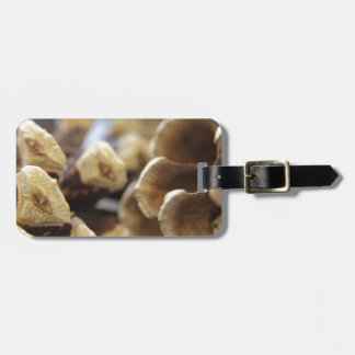 pine cone luggage tags