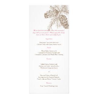Pine Cone Nature Wedding Menu Rack Cards