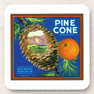 Pine Cone Oranges Drink Coaster