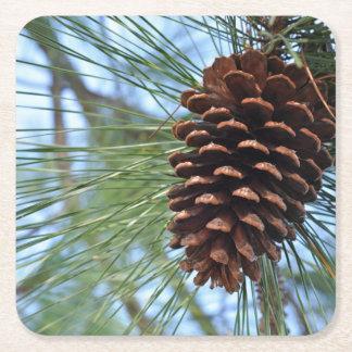 Pine Cone reusable paper Square Paper Coaster