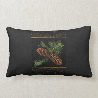 Pine Cone Watercolor 2-Sided Christmas Pillow