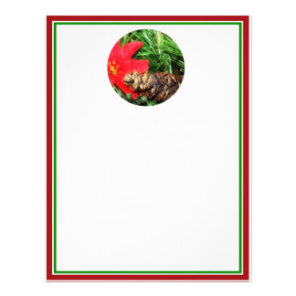 Pine Cone with Poinsettia Tree Ornament Full Color Flyer