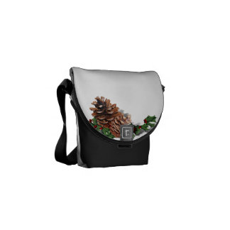 Pine Cones (Add Background Color & Text) Courier Bags