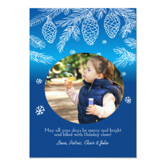 Pine Cones and Branches Photo Holiday Card 13 Cm X 18 Cm Invitation Card