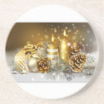 Pine Cones and Christmas Candles Coasters