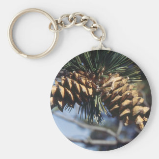 Pine Cones Basic Round Button Key Ring