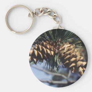 Pine Cones Basic Round Button Key Ring