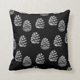 Pine Cones - Monochrome Reversible Cushion