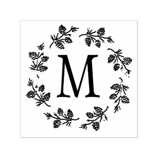 Pine Cones Monogram Personalize Self-inking Stamp