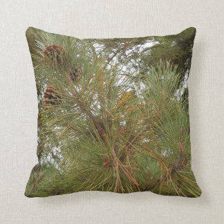 Pine Cones on Tree Between Redwood Trees Throw Cushions