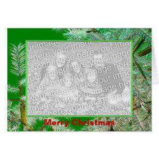 Pine Design Christmas (photo frame) Greeting Card