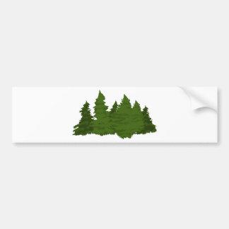 Pine Forest Bumper Sticker