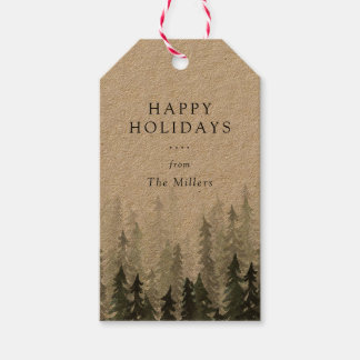 Pine Forest Holiday Gift Tags