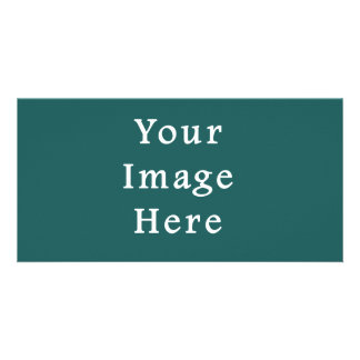 Pine Green Color Trend Blank Template Personalized Photo Card