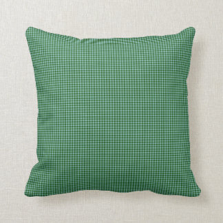 Pine Green Gingham Check Indoor Pillow 16x16