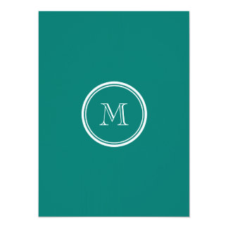 Pine Green High End Colored Monogrammed 14 Cm X 19 Cm Invitation Card