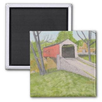 Pine Grove Covered Bridge II - Lancaster Square Magnet