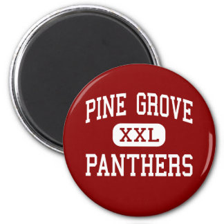 Pine Grove - Panthers - High - Ripley Mississippi 6 Cm Round Magnet