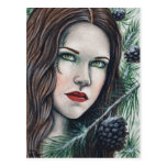Pine Holiday Winter Postcard