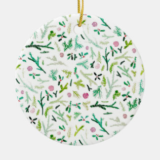 Pine, Holly & Sugarplums Christmas Ornament